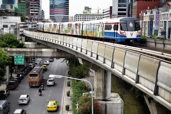 Skytrain at Silom