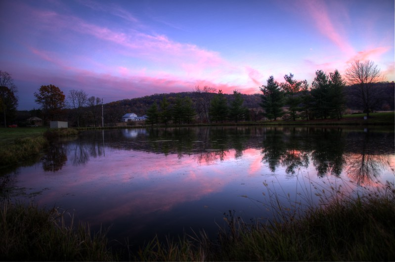 sunset - pond near middlecreek 11-9-14.jpg