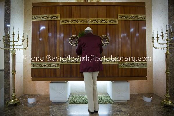 CEUTA (Spain). Ma'ariv (evening service), Bet El Synagogue (ES) (3.2016)