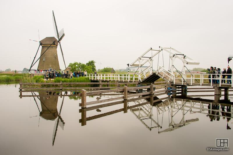 Windmill and walking bridge