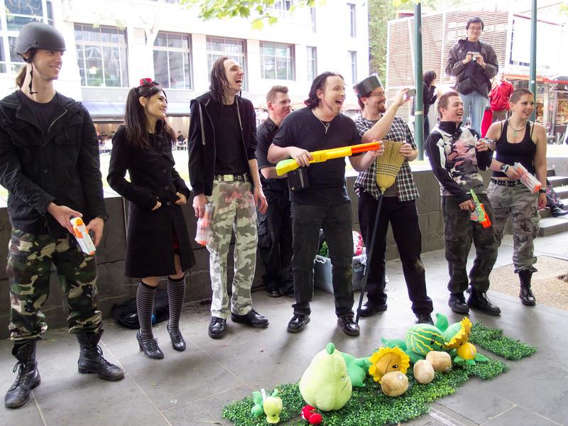 Plants vs Zombies at Melbourne City Square