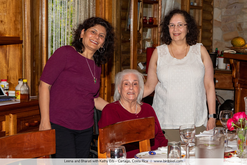 Leena and Bharati with Kathy Erb - Cartago, Costa Rica