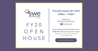 FY20 SWE San Diego Open House