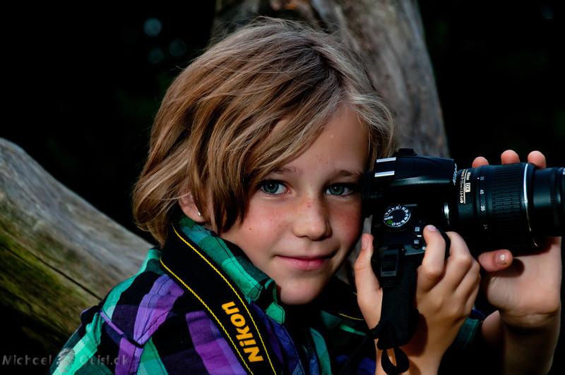 Astrid doing Nikon demo