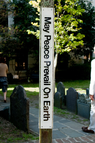 Peace pole.