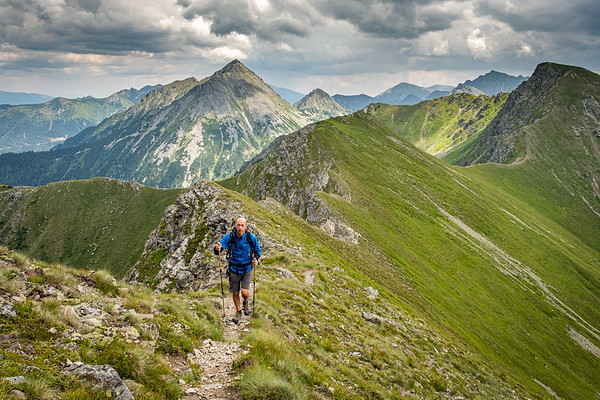 Alpy - Geierkogel (2231m) - červenec 2019