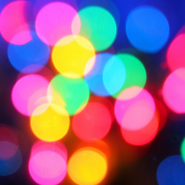 blurry background of christmas tree lights.