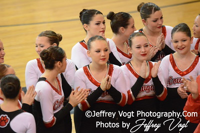 02-01-2014 Quince Orchard HS Poms MCPS County Championship Division 2,  Photos by Jeffrey Vogt Photography & Kyle Hall