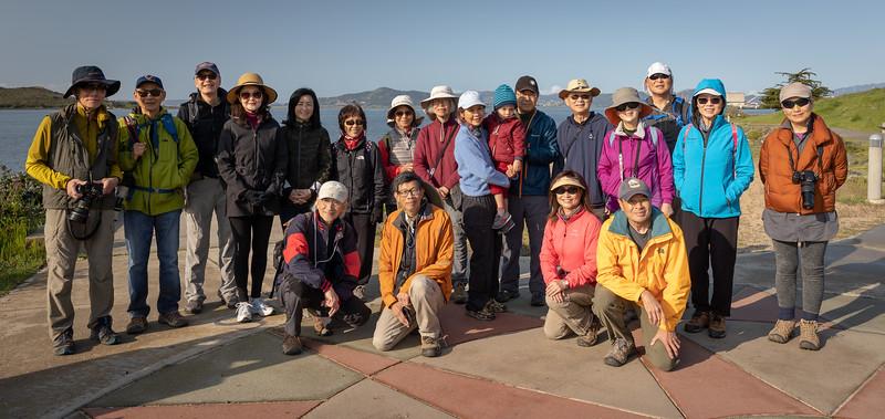 Hiking group, along the Richmond Shoreline