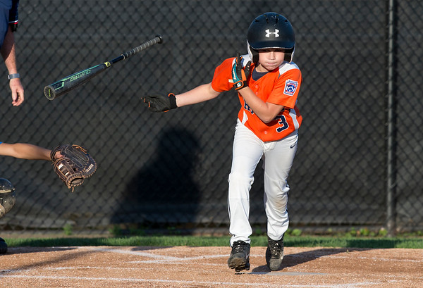 08/26/19 Wesley Bunnell | Staff The McCabe-Waters Astros defeated the Forrestville Dodgers 3-0 at Breen Field on Monday night in the city series to force a winner takes all on Wednesday. Kaden Dragon (3).