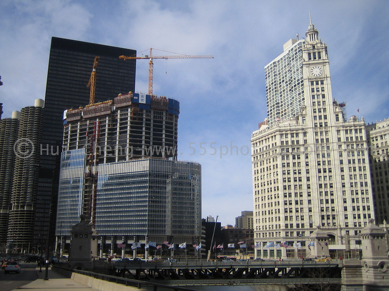 Base of the Trump Tower Chicago is complete...