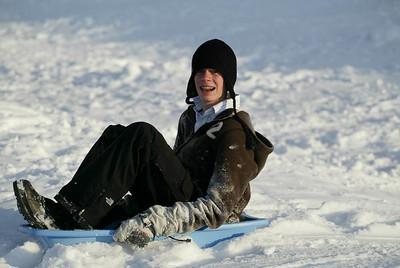 Sledding-Josh and Friends