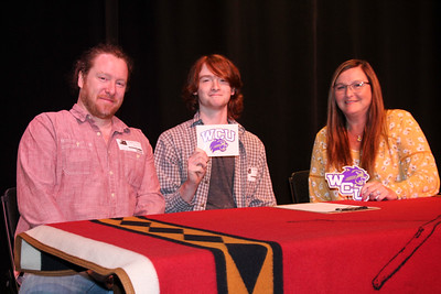 Brennen Foerst signs with WCU Musical Theater Program, April 18