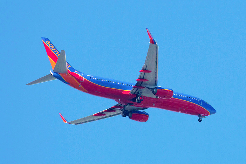 Sometimes Southwest flies over us, low, with wheels down for its landing at Hobby airport.
