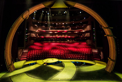 View from onstage! The set of Shrek the Musical at Children's Theatre Company
