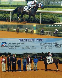 WESTERN TYPE - 3/13/2003