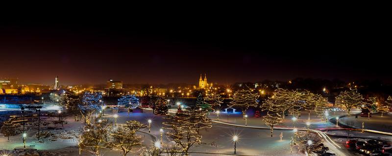 Falls Park's Christmas Lights