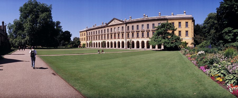 a lawn at magdalen college