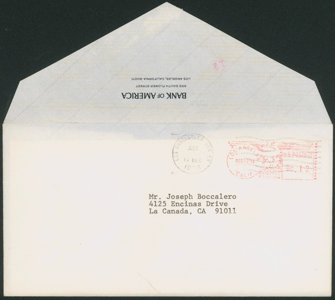 1976, Bank of America Envelope