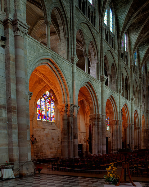 Chalons-en-Champagne , Notre Dame-en-Vaux Nave Elevation