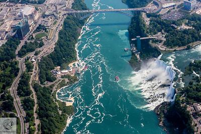 Niagara Falls - Helicopter View