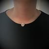 1.04ctw Victorian Rose Cut Diamond Pendant 18