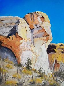 Cuevas Amarillas 12x9 pastel SOLD