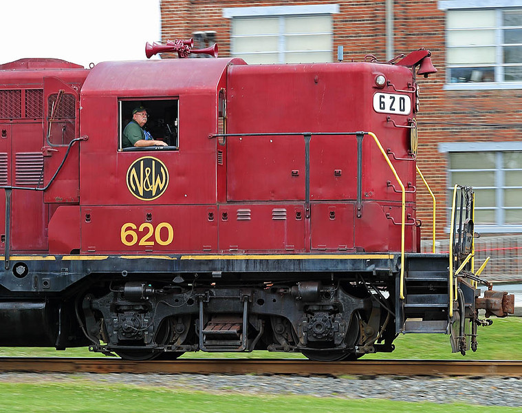 Norfolk & Western Ry GP9 #620 at the North Carolina transportation Museum in Spencer,NC.