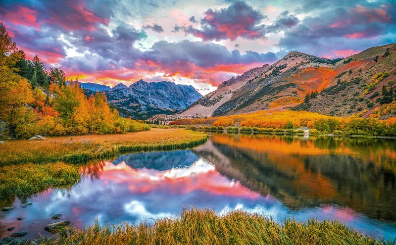 Golden Ratio Edition: Autumn's Archetype: North Lake Bishop Creek Fall Foliage  Elliot McGucken Fine Art Landscape Nature Photography