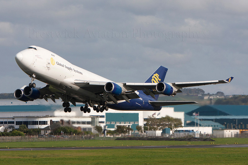 G-GSSA. Boeing 747-47UF SCD. Global Supply Systems. Prestwick. 120208.