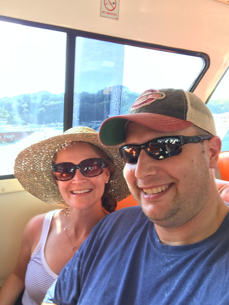 Taking the fast boat from Bali to the Gili Islands!  (about a 2 hour bumpy, noisy ride!)