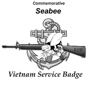 Seabee Vietnam Service Badge