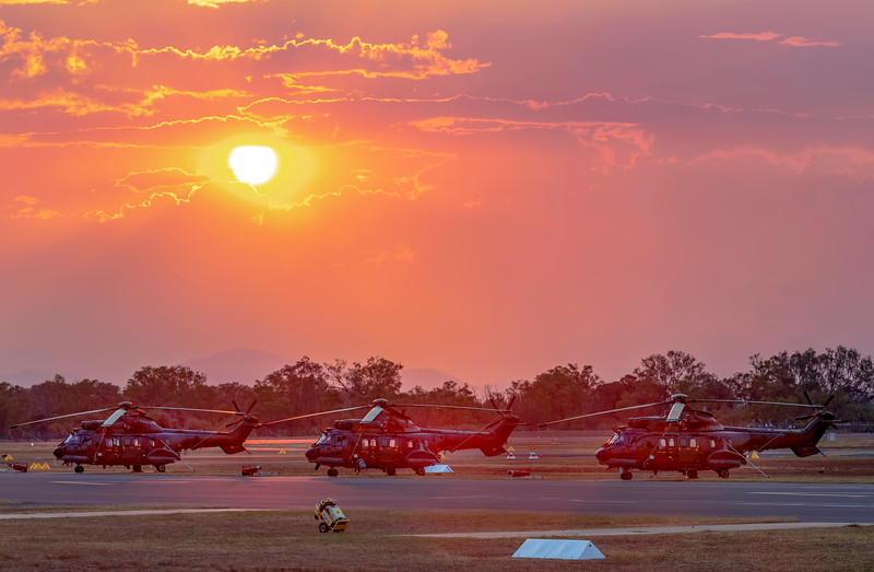 Exercise Wallaby 2018 - Sunset over Super Pumas