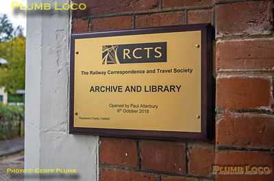 RCTS Archive & Library Opening, 6th October 2018