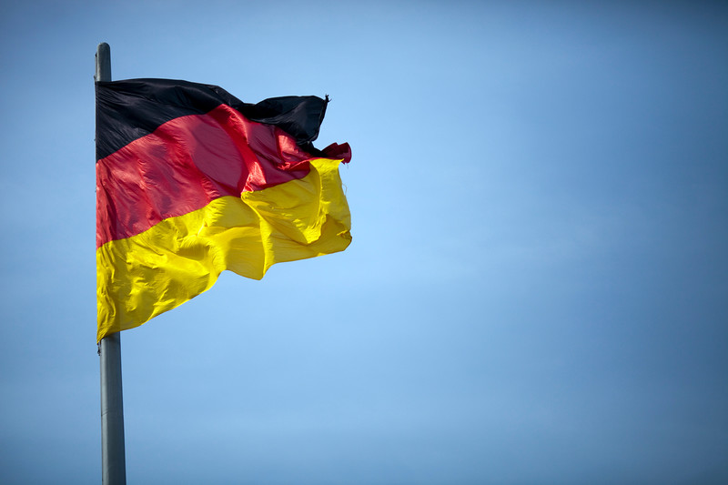 German flag, Berlin, Germany