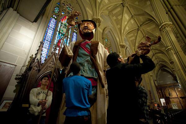 Cardinal Crescenzio Sepe in Little Italy, NY, January 19th, 2011
