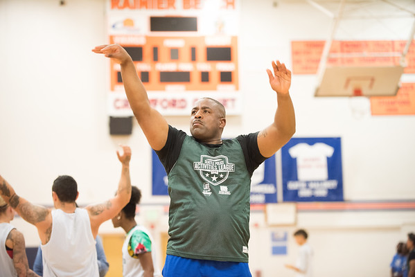 RBHS and SPD play 3-on-3 BBall