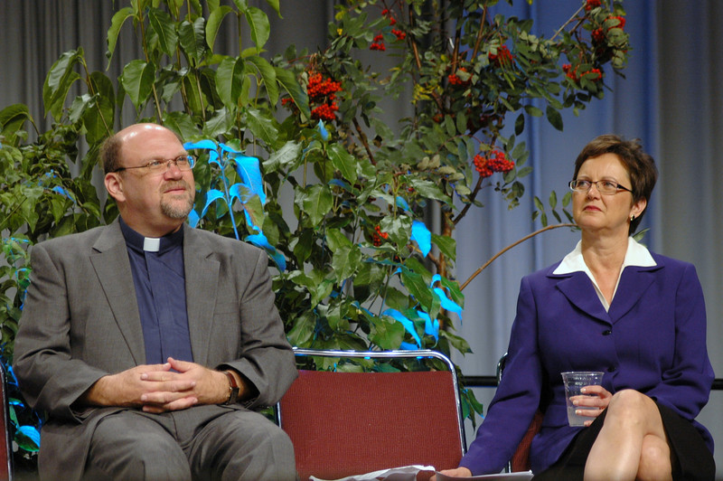 The Rev. Daniel Rift, director for the World Hunger Appeal, and Nancy Arnison, director for the World Hunger program