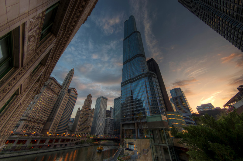 """""""An Evening at the Trump"""" Chicago, Illinois Chicago River"""