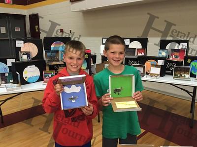 "Lester Prairie School's ""Talking Suitcases"" exhibit 2016"
