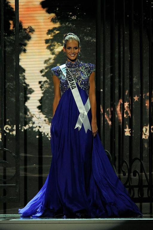 . Miss Louisiana USA Brittany Alyson Guidry competes in the 2014 Miss USA Competition at The Baton Rouge River Center on June 8, 2014 in Baton Rouge, Louisiana.  (Photo by Stacy Revere/Getty Images)