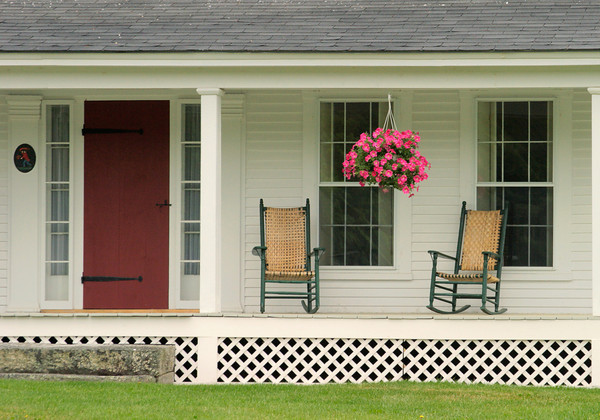 Front Porch of a Rural Farmhouse