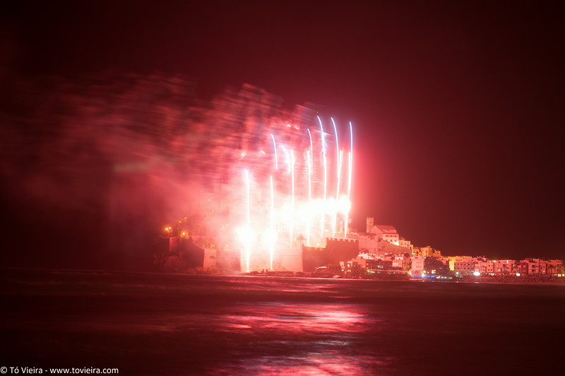 Fogo de artificio - Peniscola -Espanha