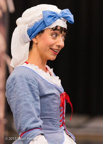 Soprano Pascale Beaudin in Opera Lafayette's production of Grétry's L'Épreuve Villageoise