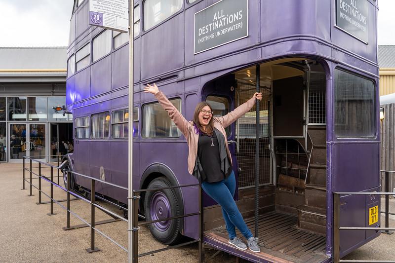 Amanda at the Knight Bus
