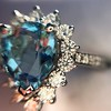 3.30ctw Aquamarine and Diamond Cluster Ring 33