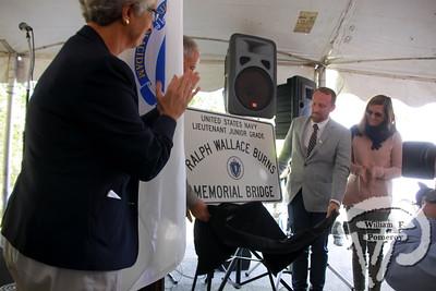 RALPH WALLACE BURNS — bridge dedication — Harwich, MA 10 . 8 - 2016