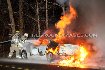 Long Hill Ave. Car Fire (Shelton, CT) 1/26/10