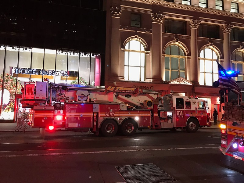 Engine 44 at the Trump Tower.