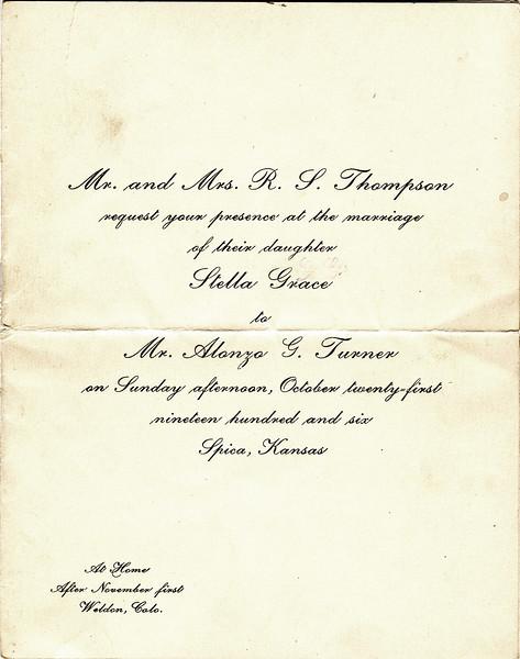 Turner-Thompson Wedding Invitation